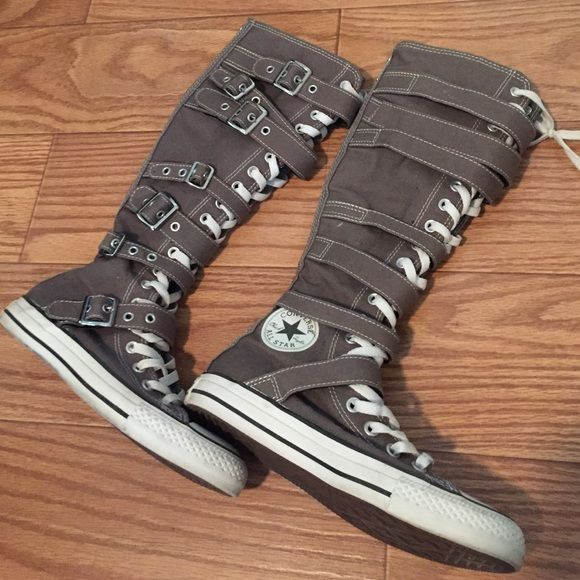 706f9ab7fae vegan knee high converse boots with buckles and straps - Akileos