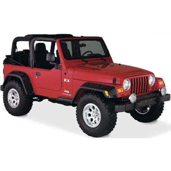 Bushwacker 10908 07 6 Pocket Style Fender Flares For 97 06 Jeep