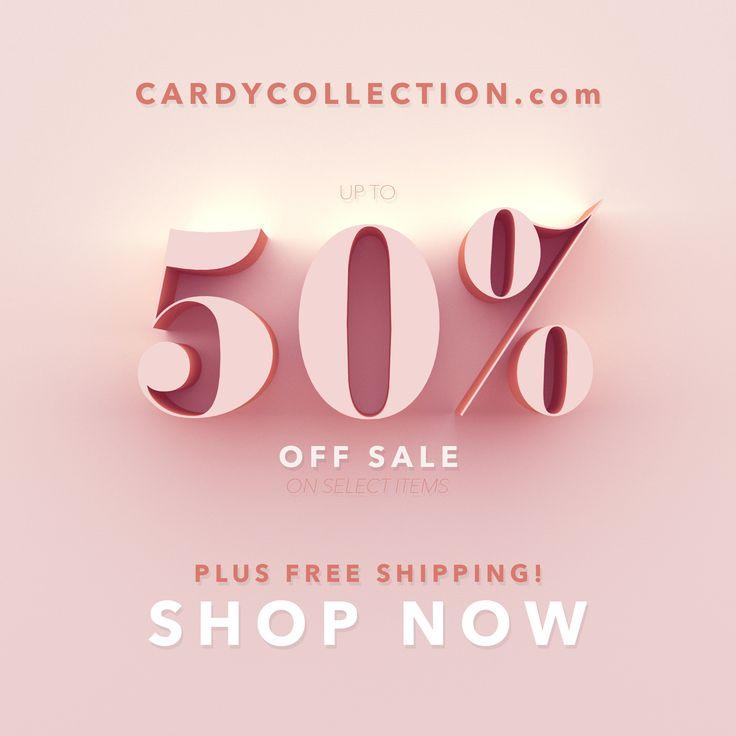 50% off Sale Event. 3d design. Women's fashion