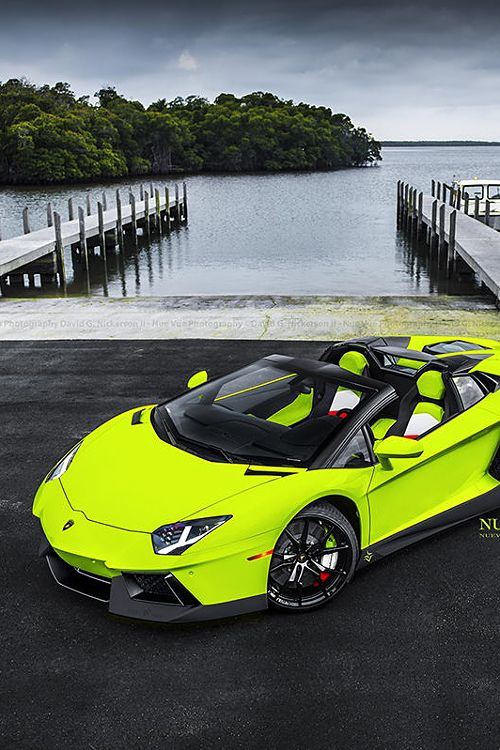 Lamborghini Aventador Roadster!! Light it up with the color!