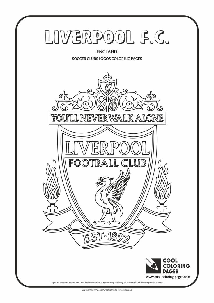 Liverpool F.C. logo coloring / Coloring page with Liverpool F.C. logo…