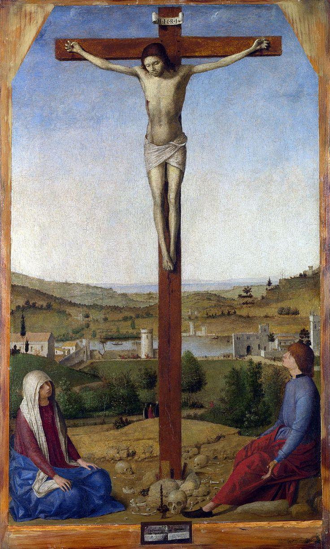 Антонелло_да_Мессина. Распятие. 1475 год. Национальная Галерея. Лондон.