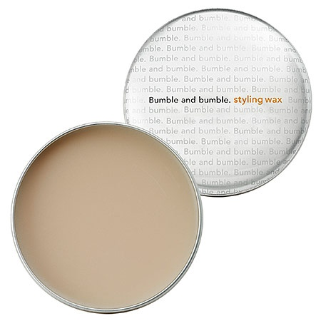 Bumble and bumble -Styling Wax   A water-soluble combination of wax and silicone gives a shiny finish without looking greasy. Visit The Boardroom Salon to purchase and learn how to style this product.