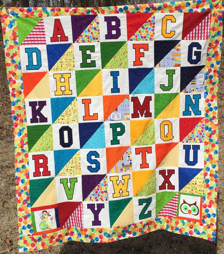 183 best ABC LETTER QUILTS images on Pinterest | Letters, A letter ... : alphabet baby quilt pattern - Adamdwight.com