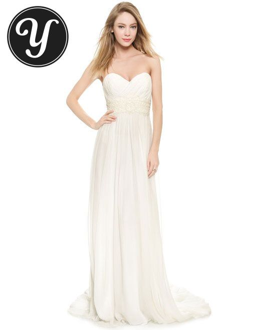 Marchesa Grecian Strapless Sweetheart Gown To see more gowns visit http://yurn.it/profile/yurnit1/board/emmy-inspired-gowns/?t=149160