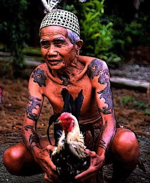 Beside shape of the long ears, the other Dayak tribes tradition is a tattoo. Dayak woman above 40 years old on average have a tattoo on his...