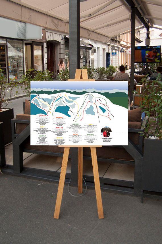 Vail Ski Resort Trail Map Wedding Seating by WhitneyAndCompany