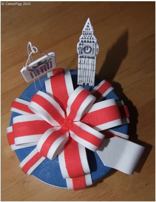 Union Jack Themed Cake