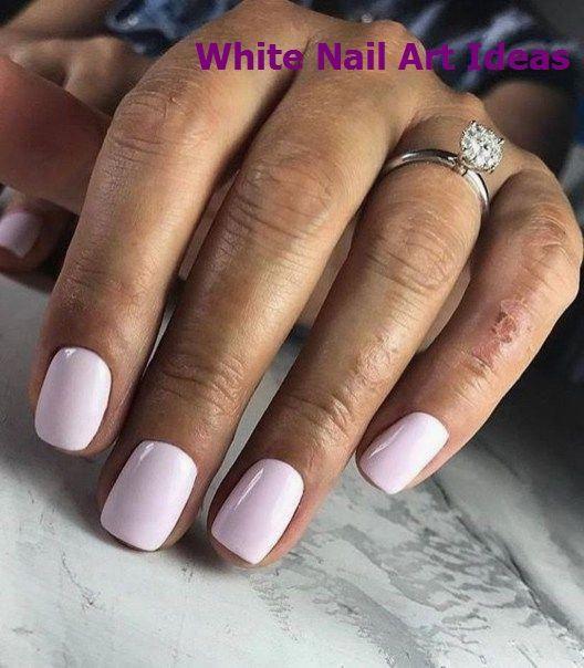 46 adorables idées d'art blanc pour les ongles à essayer   – Great White Nail Art Ideas