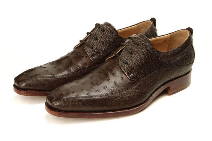 high end mens shoes | men's shoes Italian manual custom ostrich skin leather high-end ...