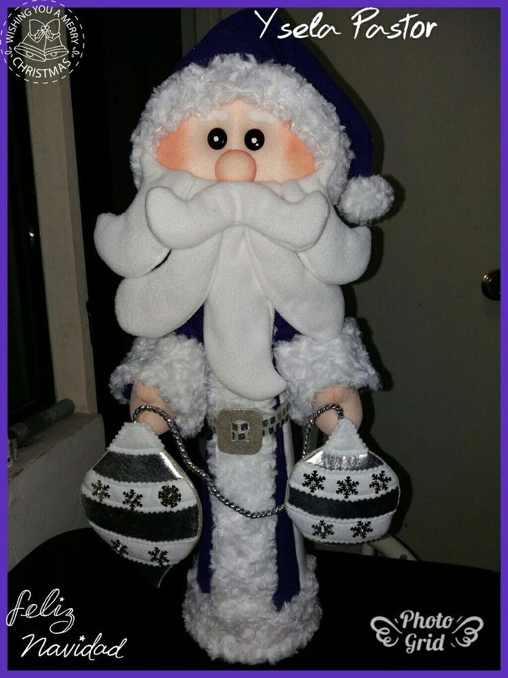 Santa con sus bombillos
