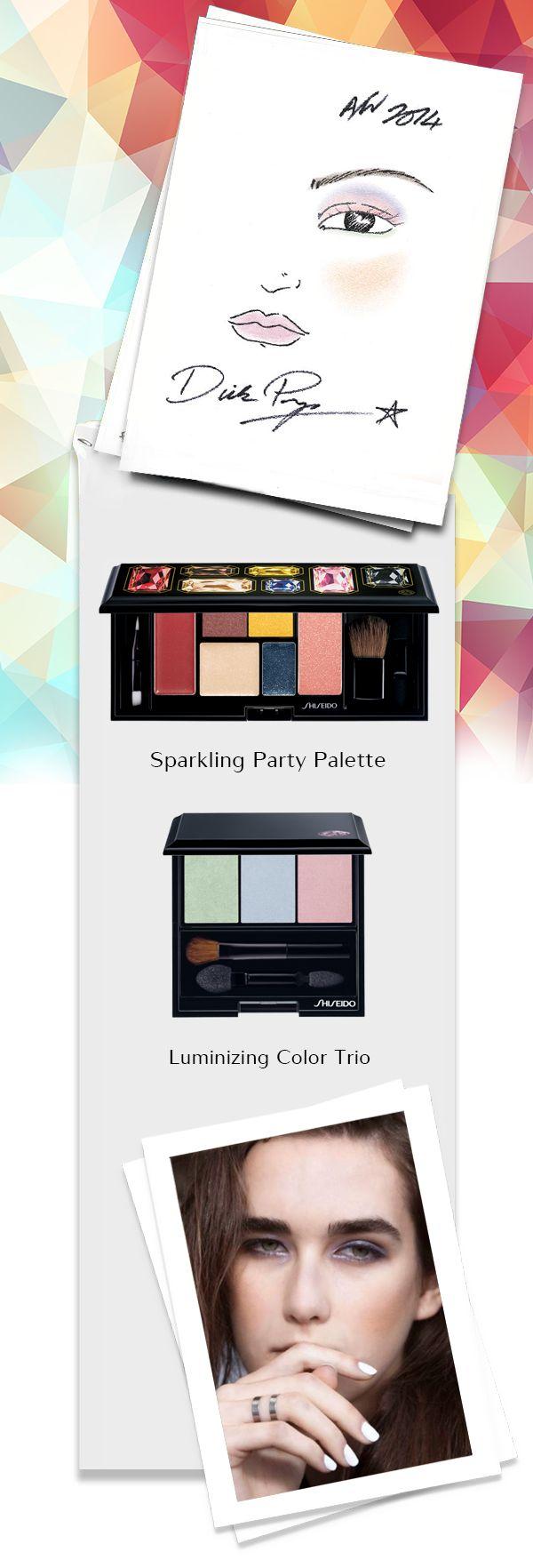 Per questa collezione Dick Page ha creato un #makeup d'ispirazione anni '70 romantico ed etereo, con l'uso della Sparkling Party Palette e di Luminizing Satin Eye Color Trio.  #ShiseidoModa #NYFW www.shiseido.it