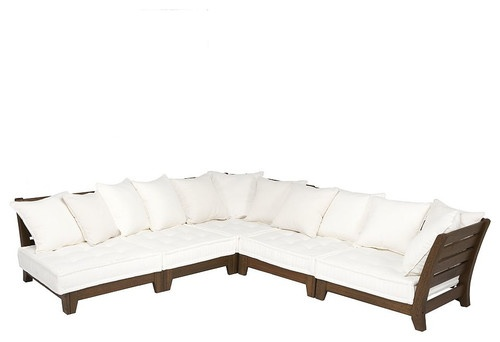 Chesapeake Low Platform Sectional - contemporary - outdoor sofas - Pottery Barn