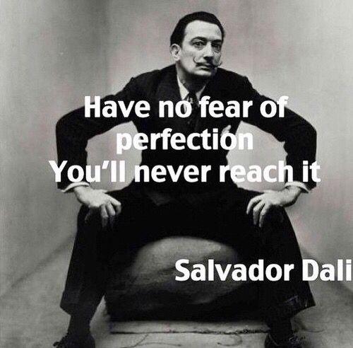 Salvador Dali Perfection quote