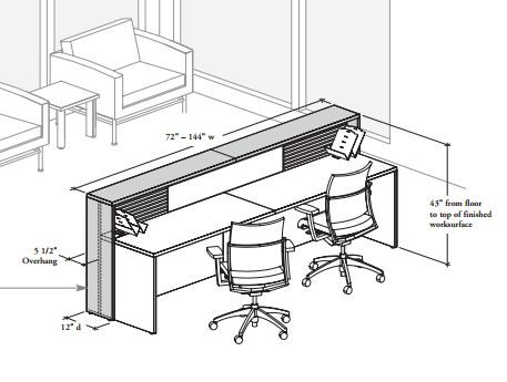 office chair diagram patio table and chairs sets executive desk great installation of wiring reception dimensions rh pinterest com hutch corner