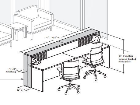 Reception Desk  Dimensions  Curved reception desk