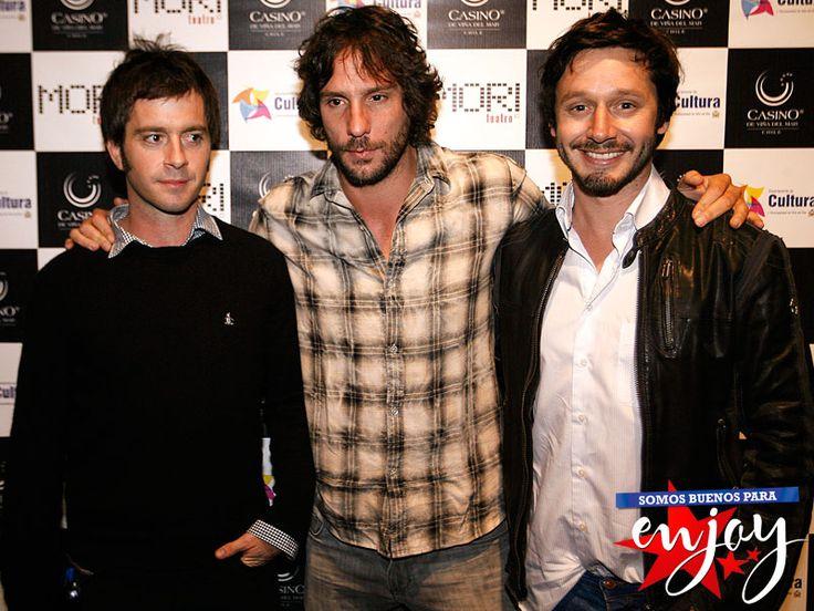 Benjamin Vicuña y Gonzalo Valenzuela estuvieron en el lanzamiento del Teatro Mori en Enjoy Casino Viña del Mar.
