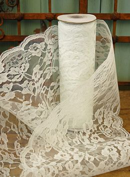 Lace White 9in wide x 10 yds (Save 59%) To go on top of burlap table runners. Got enough to cover 13 tables