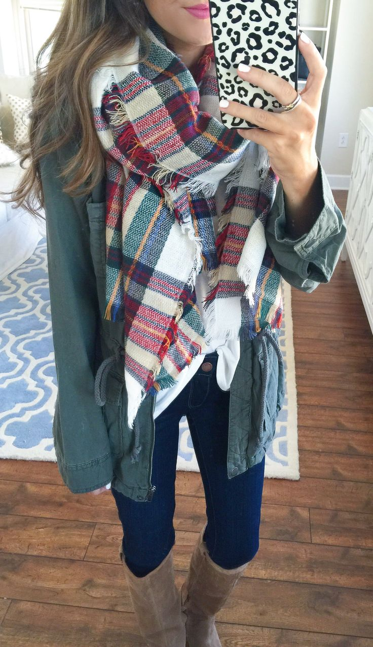 blanket scarf and cargo jacket - both apart of the Nordstrom Anniversary Sale this year! #nsale