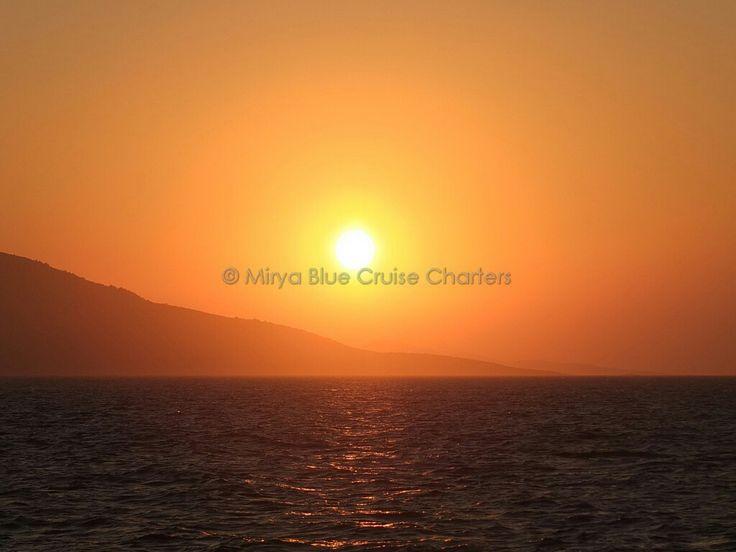 #sunriseatsea outskirts of #bodrum #turkey during a #bluecruise #guletholiday. #destination #knidos #datca