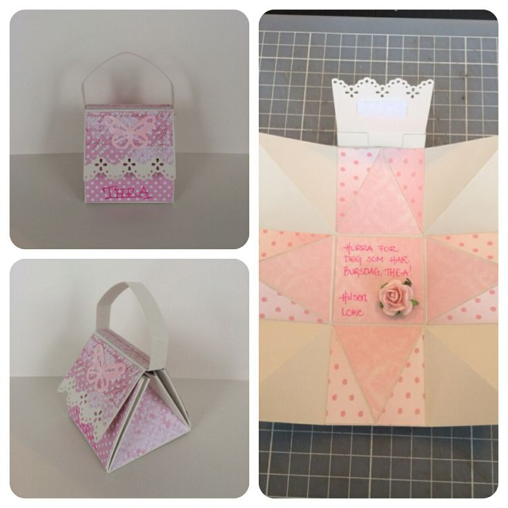 A small handbag card for a 5 year old girl, made by me :)
