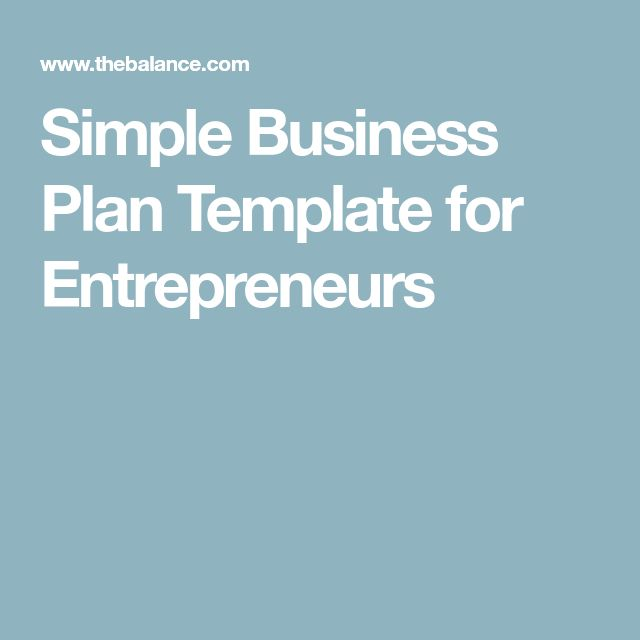 The Best Simple Business Plan Ideas On Pinterest Simple - Simple business plan templates