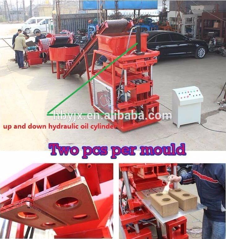 HBY2-10 adobe/soil/clay interlocking brick machine in Algeria