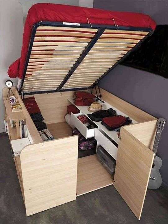 Interesting space saving bed