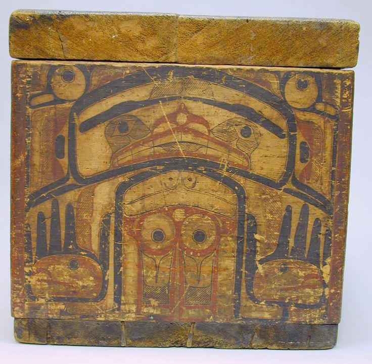 Storage Chest Date: ca. 1880 Geography: United States, Alaska Culture: Tlingit Medium: Wood, paint Dimensions: H. 20 1/4 x W. 30 5/8 x D. 20 1/2 in. (51.5 x 77.8 x 52.1 cm) Classification: Wood-Containers Credit Line: The Michael C. Rockefeller Memorial Collection, Bequest of Nelson A. Rockefeller, 1979 Accession Number: 1979.206.421a, b