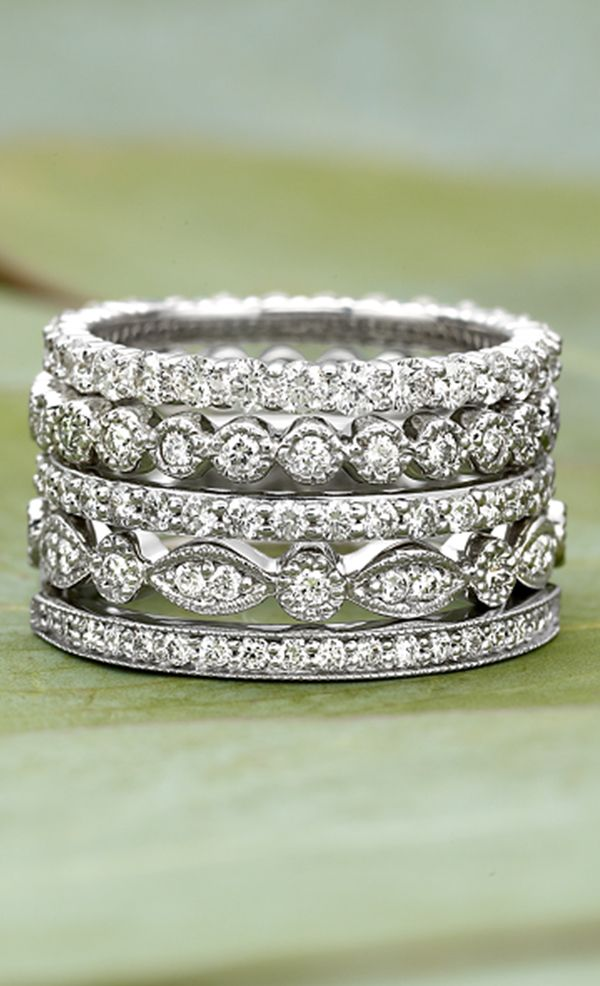 I love the look of stacked bands! GORG!