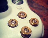Xbox 360 9mm bullet buttons ABXY game by DieselLaceDesign on Etsy