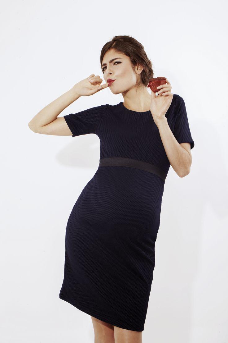 Vestido Maternidad Piqué L2W. 1ra colección Ohmamá