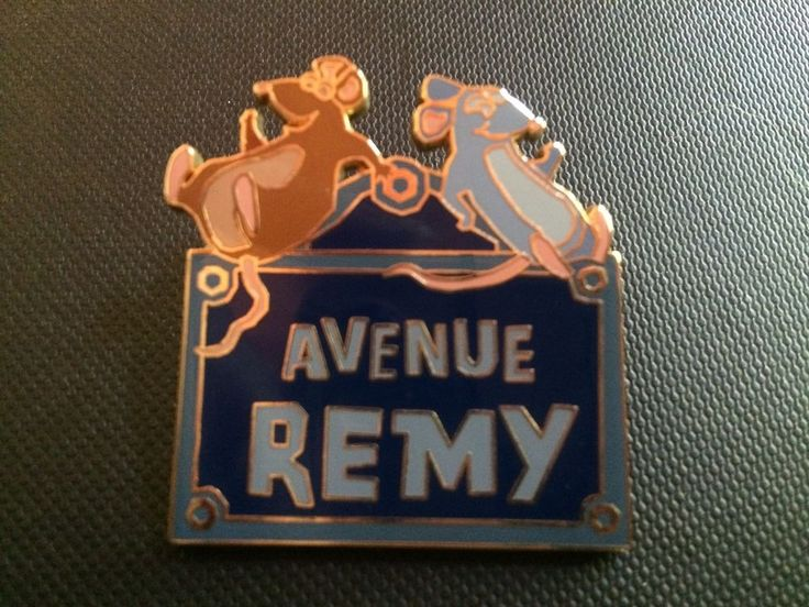 DISNEY Paris DLRP Remy Avenue Emile Ratatouille Pin HTF