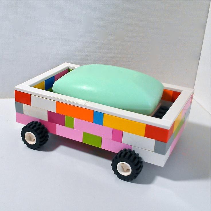 LEGO Soap Dish On Wheels. $35.00, Via Etsy.