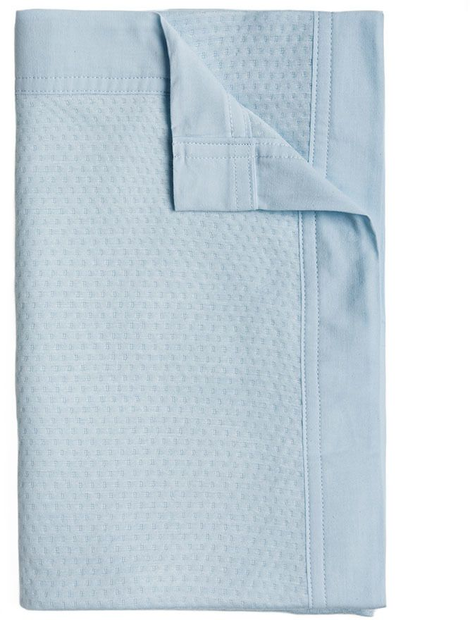 Adairs Baby Pure Bamboo Cot Blanket Soft Blue
