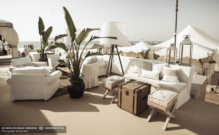 Chic Beach Safari Lounge Idea For Your Wedding