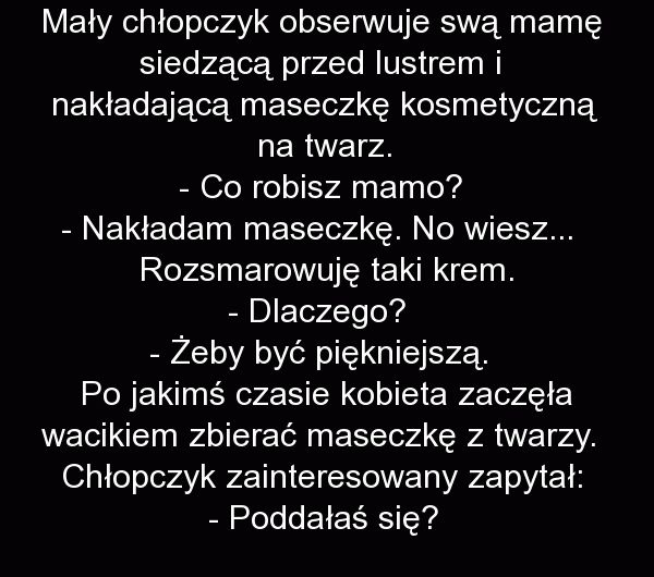 Mały chłopczyk obserwuje swą mamę - Fishki.pl