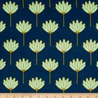 Art  Gallery Blush Jersey Knit Floret Honeydew