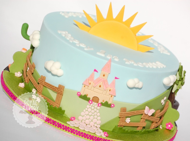 The Royal Bakery - Princess Castle Cake. One side of a double-sided cake.