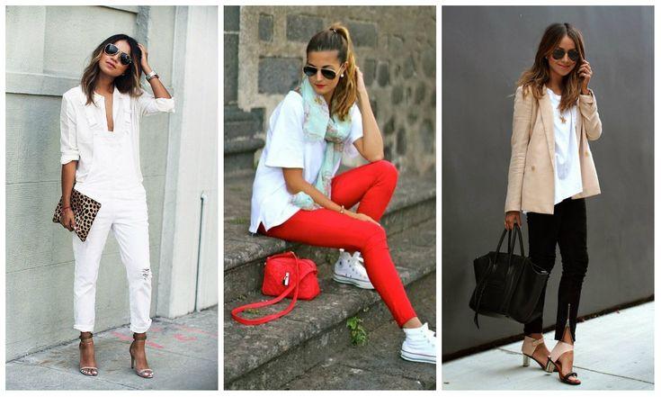 С-чем-носить-белые рубашки-и-белые-футболки-10-советов-на-2016-год  #мода #майка #стиль #белое #мастхэв #красота #мода2016