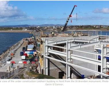 Flood Precast - Precast Stairs and Landing Units provided for Liebherr at Fenit Harbour Tralee