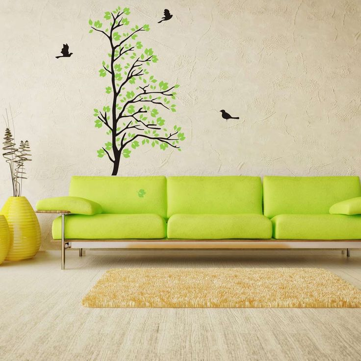 Green Tree Wall Stickers For Living Room