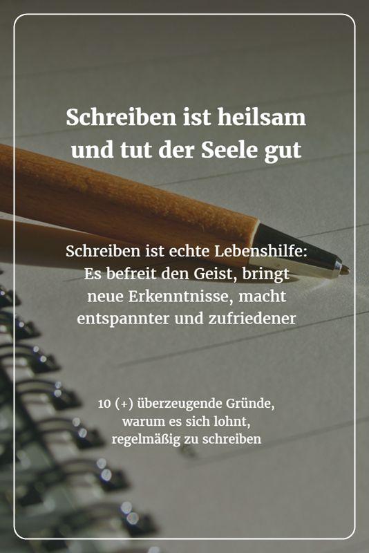 Schreiben ist echte Lebenshilfe: Es kann die Seele heilen, Angststörungen und Depressionen lindern. Es befreit den Geist, bringt neue Erkenntnisse, macht kreativer und zufriedener.