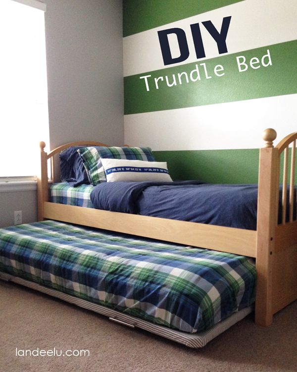 DIY Trundle Bed: A Furniture Hack | Change any bed into a trundle for more sleeping room when you need it!