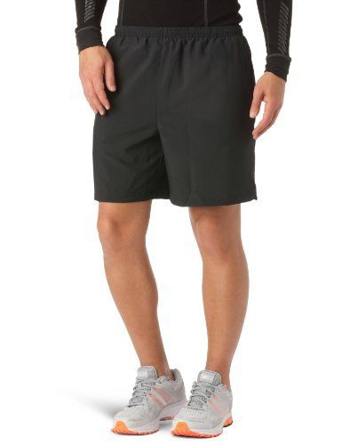 "Mens UA Escape 7 Solid Shorts Bottoms by Under Armour Large Black by Under Armour. $17.99. Ultra-lightweight woven fabric won't hold you down, but remains durable for heavy wear. Mesh internal liner helps moisture escape your running gear, keeping you cool and dry. 360° reflectivity delivers extra safety for low light running situations. Hand pockets hold your essentials when you're on the move. 7"" inseam. 2.2 oz. Polyester. Imported."