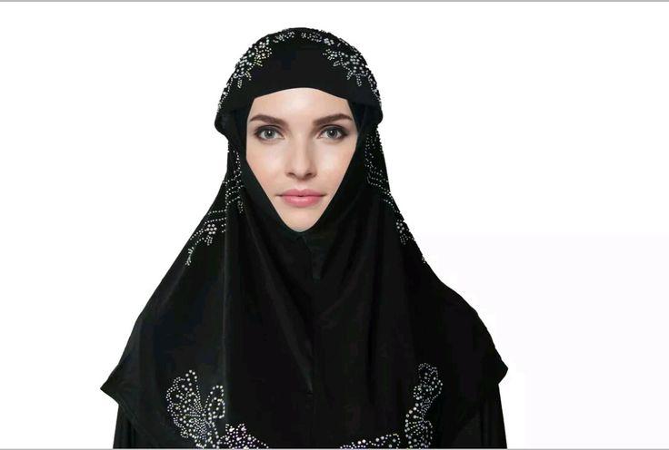 Polyester Hijab with Rhinestone www.joymuslim.com