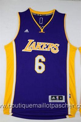 maillot nba pas cher Los Angeles Lakers Clarkson #6 Pourpre nouveaux tissu 22,99€