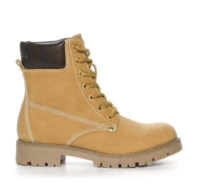 Din Sko Støvletter & boots Ankelstøvlett Skinnimitation Gul