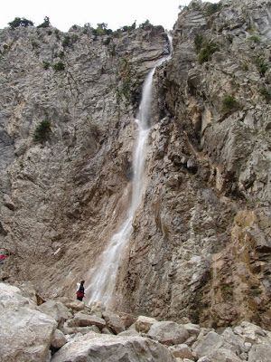 Great waterfall at mt Oiti, central Greece