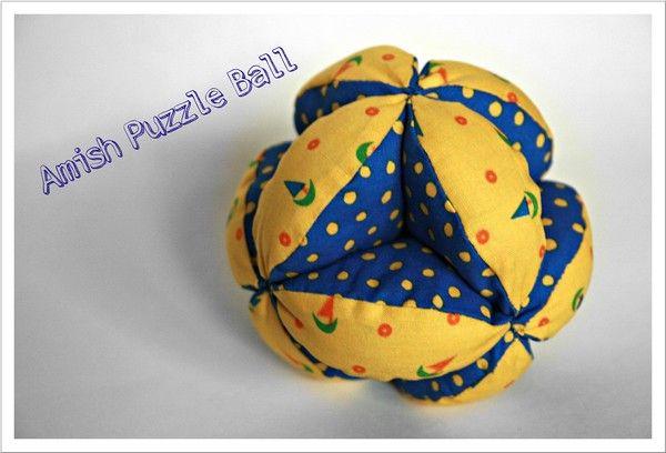 Amish Puzzle Ball nähen, Greifball, Greifring